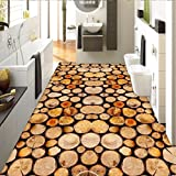 LHDLily Custom Floor Wallpaper Wood 3D Stereo Wallpaper Bathroom Bedroom Living Room Wear Floor Painting 350cmX250cm