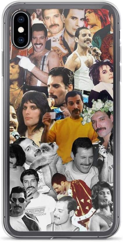 Gryss Compatible with iPhone 7 Plus/8 Plus Case Freddie Mercury Collection Queen Rock Music Pure Clear Phone Cases Cover