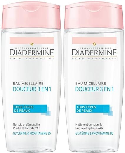 Diadermine Essential Care Gentle Agua micelar 3 en 1 Mujeres 200 ml - Juego de 2