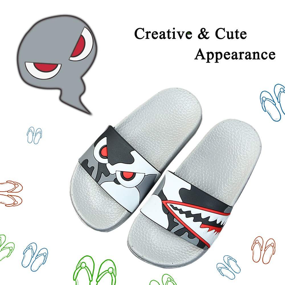 SITAILE Girls Boys Slide Sandals Slip on Cute Athletic Sport Slides Kids Outdoor Indoor Lucky Cat Slippers