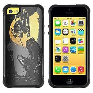 Suave TPU GEL Carcasa Funda Silicona Blando Estuche Caso de protección (para) Apple Iphone 5C / CECELL Phone case / / Reaper Heavy Metal Rock /