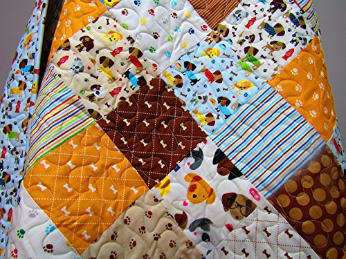 Puppy Dog Baby Quilt by Now and Then Quilts