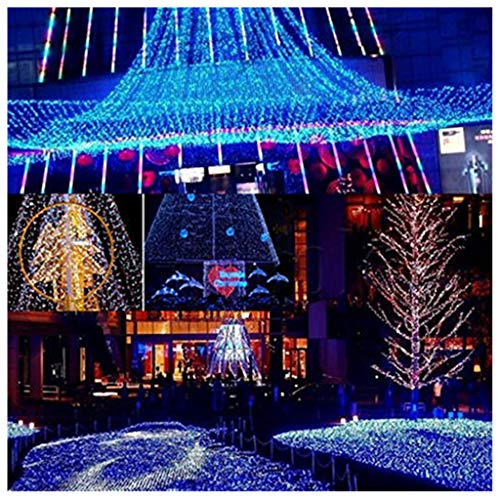 [Upgraded] LIUguoo LED Net Mesh Fairy String Decorative Lights 96 LEDs 5ft x 5ft Tree-wrap Lights for Outdoor Wedding Garden Decorations White