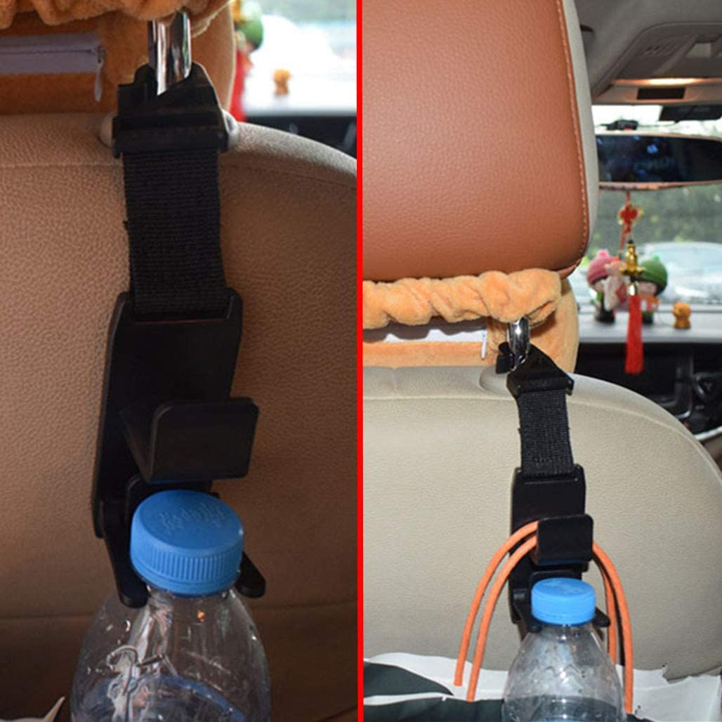 Purses Grocery Bags and Water Bottle Holder Universal Vehicle Car Backseat Headrest Hooks for Handbags Metrical 4 Pack Car Seat Headrest Hooks Coats