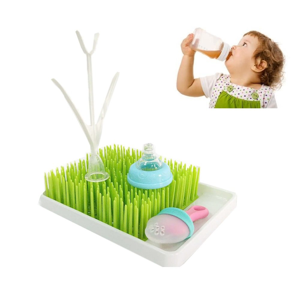 Bottle Cap,Nipple,Gadgets Baby Bottle Drying Rack Countertop Bottle Drying Rack,Infant Nursing Bottle Holder Straight Holder,Baby Bottle Drying Rack with Removable Water Tray,for Drying Bottles