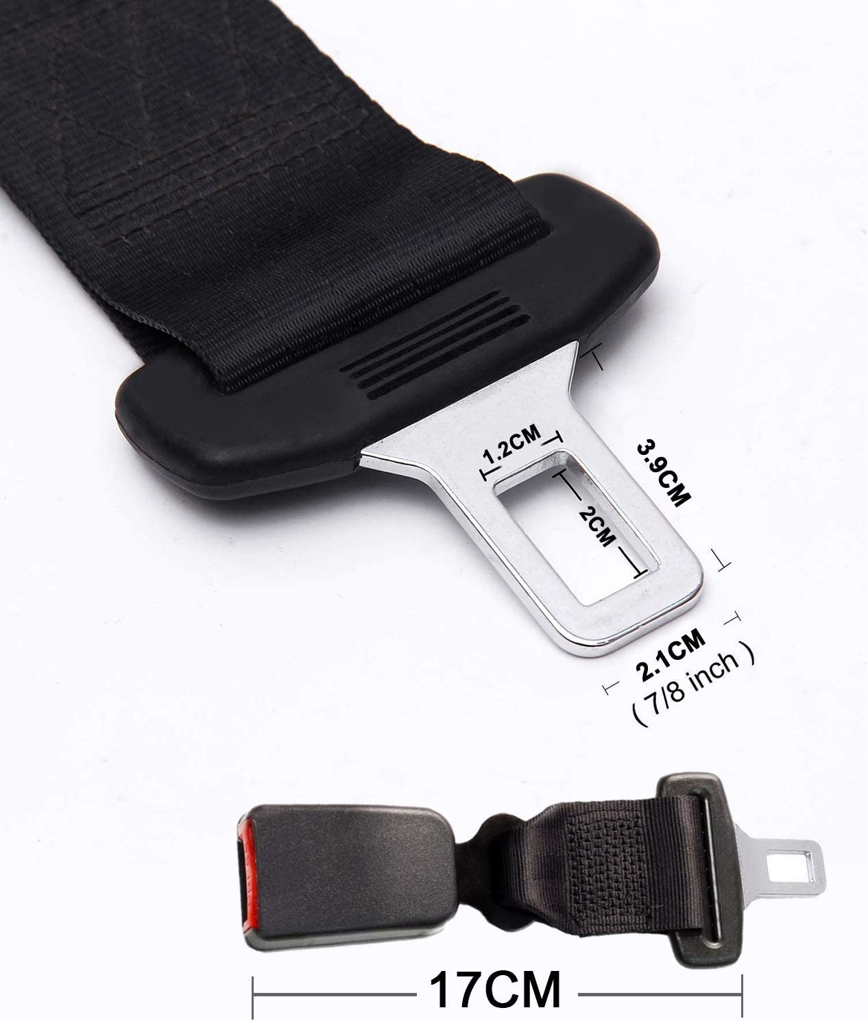 7//8 Metal Tongue 8 Suitable for Most Cars Comfortable Seatbelt Buckle Car Seatbelt Extenders Seat Belt Extension for Obese Men Pregnant Women Child Safety Seats Seat Belt Extender 2 Pack SANGYM