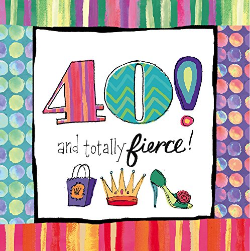 Cypress Home 4NC8140 20 Piece 40th Birthday Paper Cocktail Napkins, Multicolored - 40th Cocktail Napkins