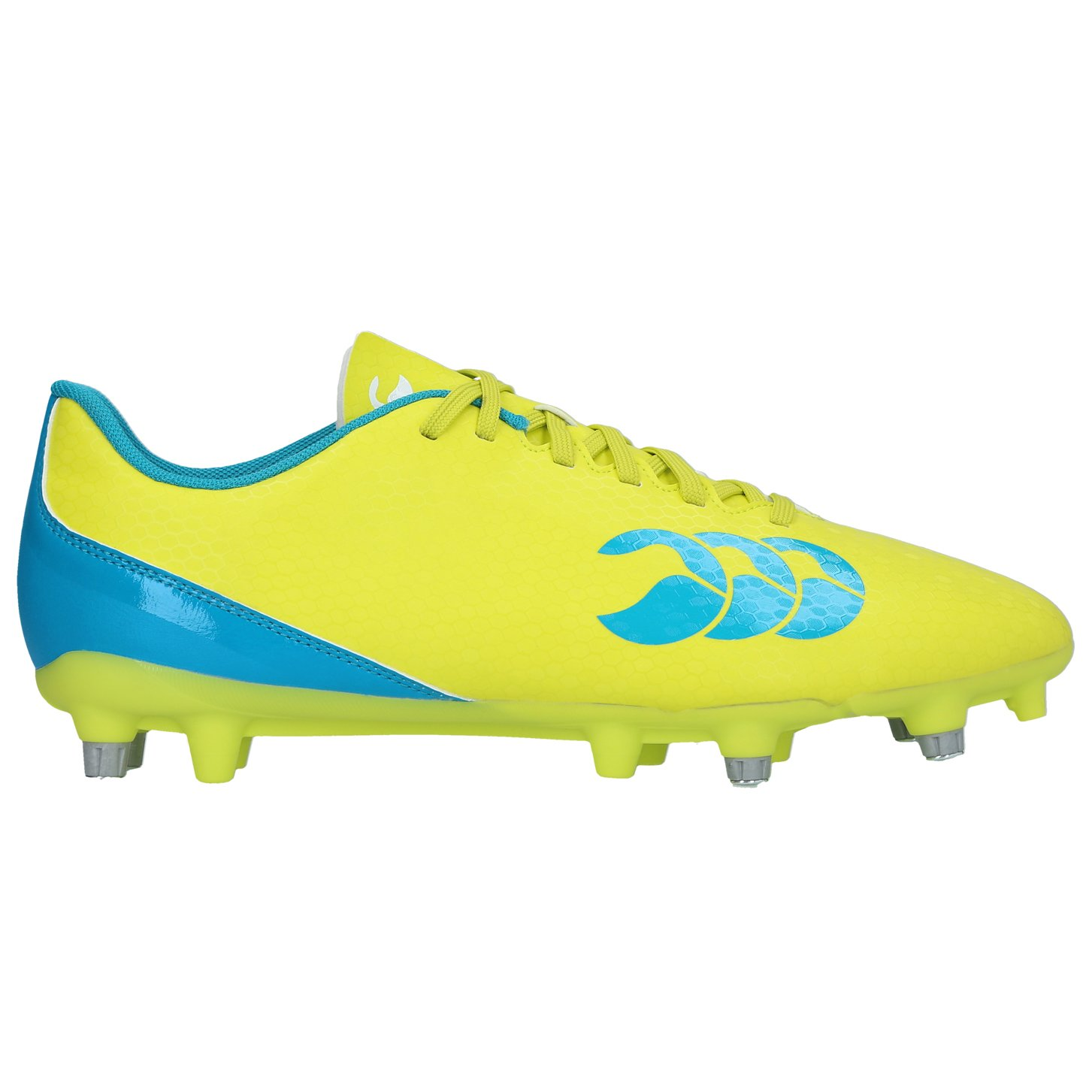 Canterbury Speed 2.0 SG Rugby Boots - Yellow/Blue - UK 6 by Canterbury