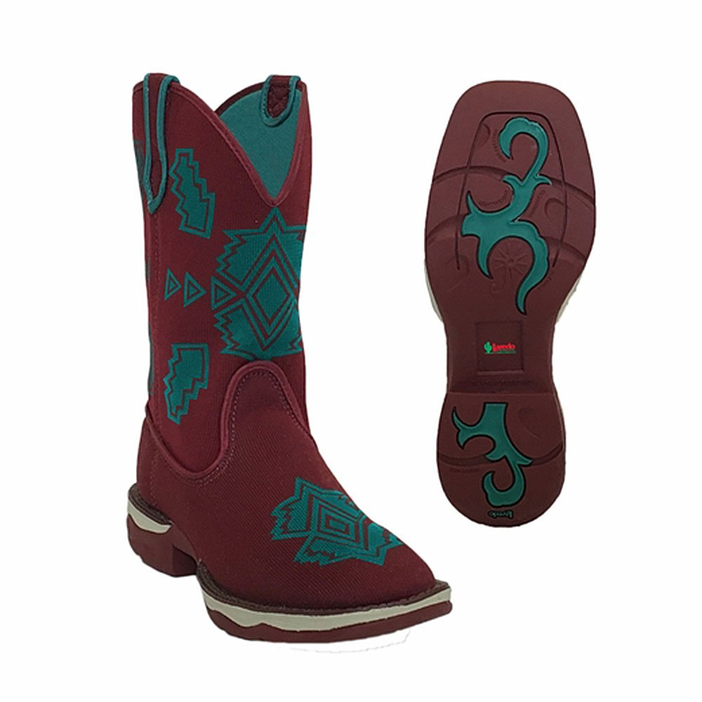 Laredo Women's Performair Washable Western Boot Square Toe - 5955 B01LX6AC0H 6.5 B(M) US|Burgundy