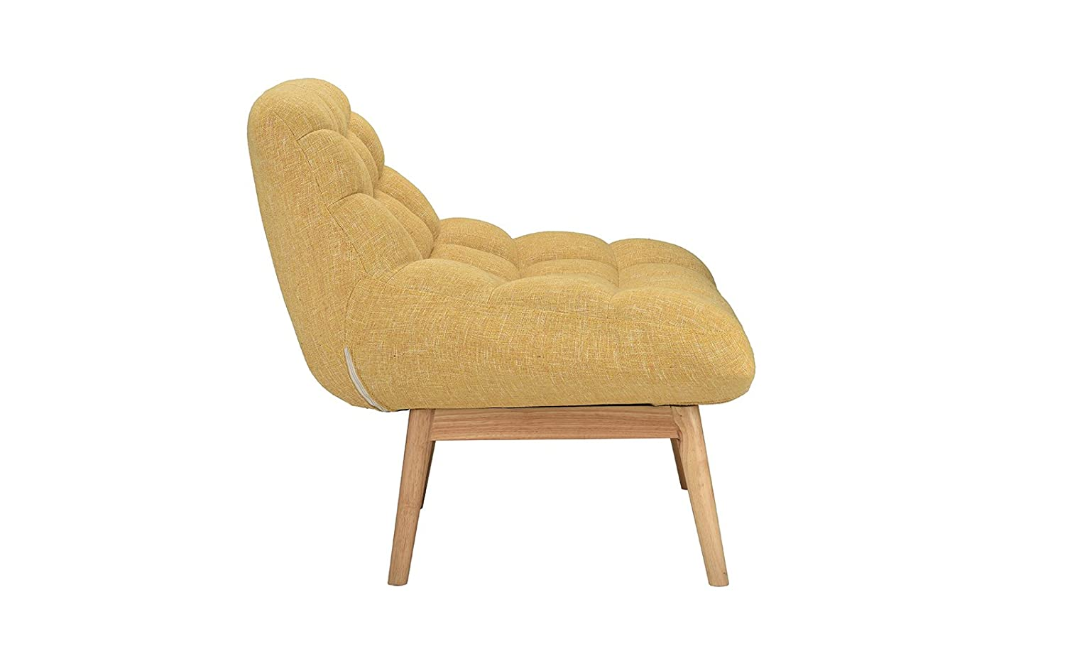 Modern Linen Plush Living Room Lounge Accent Chair (Yellow)