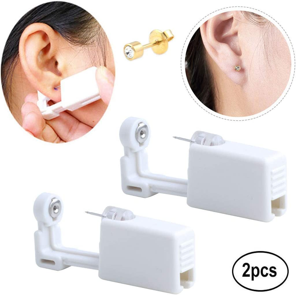 Ear Piercing Gun Earring Disposable Ear Stud Gun Sterile No Pain Ear Piercing Gun 2 Pack (231)