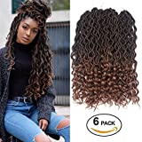 #9: Dorsanee Goddess Faux Locs Crochet Hair Braids Wavy Synthetic Braiding Hair Deep Wave Curly Ends Loc Hair Extension New Style Fashion and Bouncy(6packs,T1B/30#)