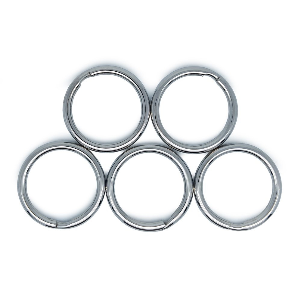 Round LABEN Stainless Steel Diameter 32mm Split Key Ring Key Chain Connector 5 Pieces