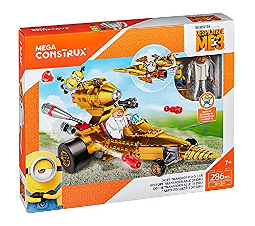 Despicable Me Characters Costumes (Mega Construx Despicable Me 3 Dru's Transforming Car Building Set)