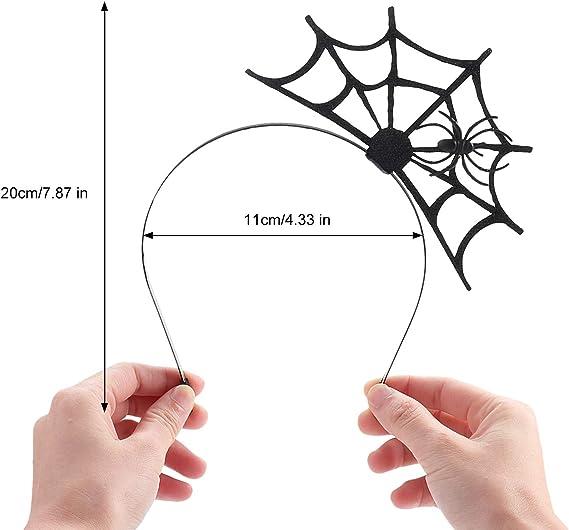 ZOYLINK Aro de Pelo de telaraña con 2 Hojas de Halloween para el ...