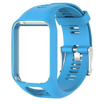 rawuin silicona inteligente reloj correa de muñeca banda de repuesto para TOMTOM Runner 2 3 Spark