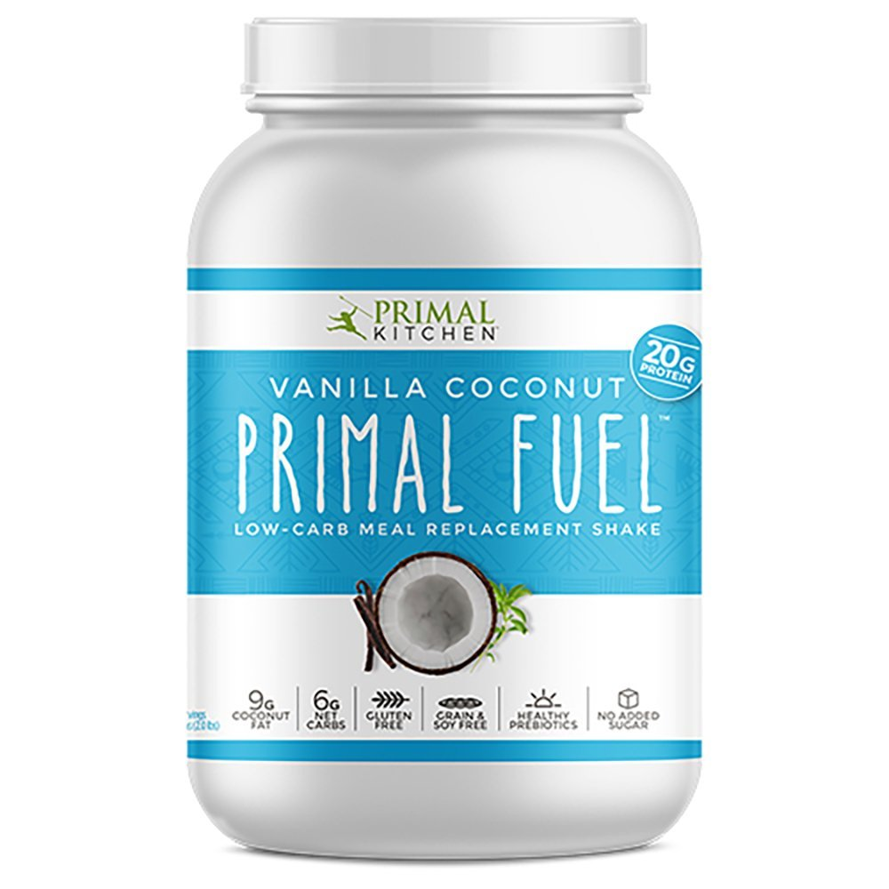 Primal Kitchen Primal Fuel Vanilla Coconut Whey Protein Powder- Updated Contains No Soy - 10 grams of Protein (1.86 lbs)