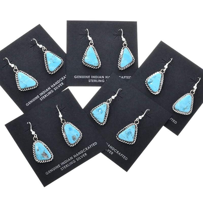 Latchback Handmade ShawnDodyDesigns. Natural Kingman Turquoise and Fine Silver dangle earrings Arizona Skies One of a kind
