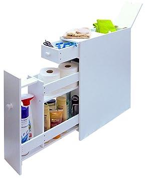 Slimline Space Saving Bathroom Storage Cupboard  sc 1 st  Amazon UK & Slimline Space Saving Bathroom Storage Cupboard: Amazon.co.uk ...