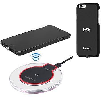 hanende Kit de Cargador Inalámbrico para iPhone 6 / 6S, Qi Carga inalámbrica Pad y Receptor inalámbrico para iPhone 6 / 6S (Negro)