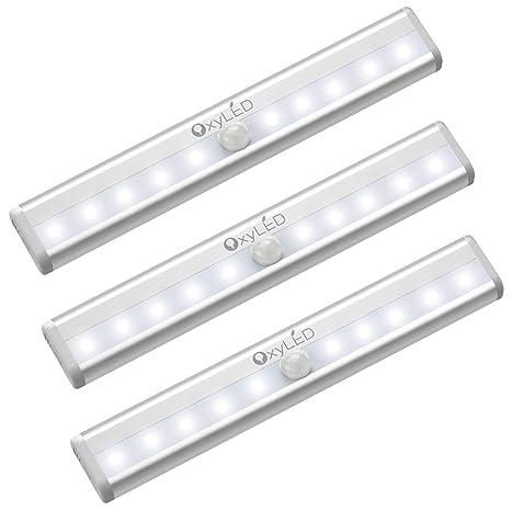 OxyLED luces del sensor de movimiento,Movimiento Sensor Luces nocturnas,Lámpara LED de Armario