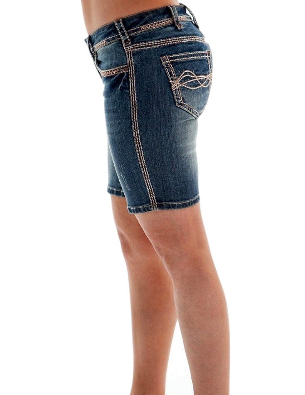 Cowgirl Tuff Western Shorts Women Mix It Up Bermuda Medium Wash JMIXPB