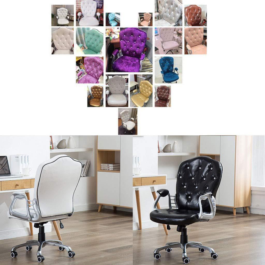 Swivel stol konferensrum uppgift skrivbord stol sovrum kontorsstol arbetsrum datorstol med mjuk emulsion vadderad svamp justerbar höjd, snygga möbler, rosa Rosa