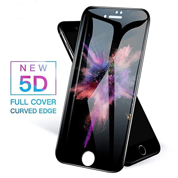 newest c3892 80591 5D Glass for iPhone 8 Plus Glass Protection for iPhone 7 Plus Glass Apple  iPhone 8 Tempered Glass Screen Protector 5.5 (Black)