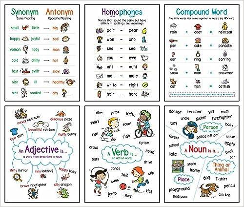 amazon com language arts 6 chart set anchor chart 9781338277784