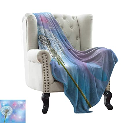 Awesome Amazon Com Lswow Knit Blanket Dandelion Bokeh Background Machost Co Dining Chair Design Ideas Machostcouk