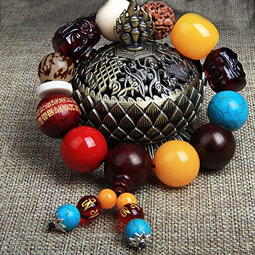 Move on Car Gear Shift Wood Buddha Beads Bracelet Rearview Mirror Hanging Ornament Decor S by Move on (Image #3)