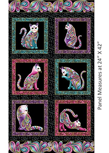 Abstract Quilt Fabric - Cat-i-tude Panel 23