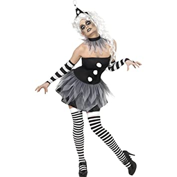 vendibile vendita outlet come ottenere NET TOYS Costume da Pierrot bianco e nero donna - M 44/46 ...