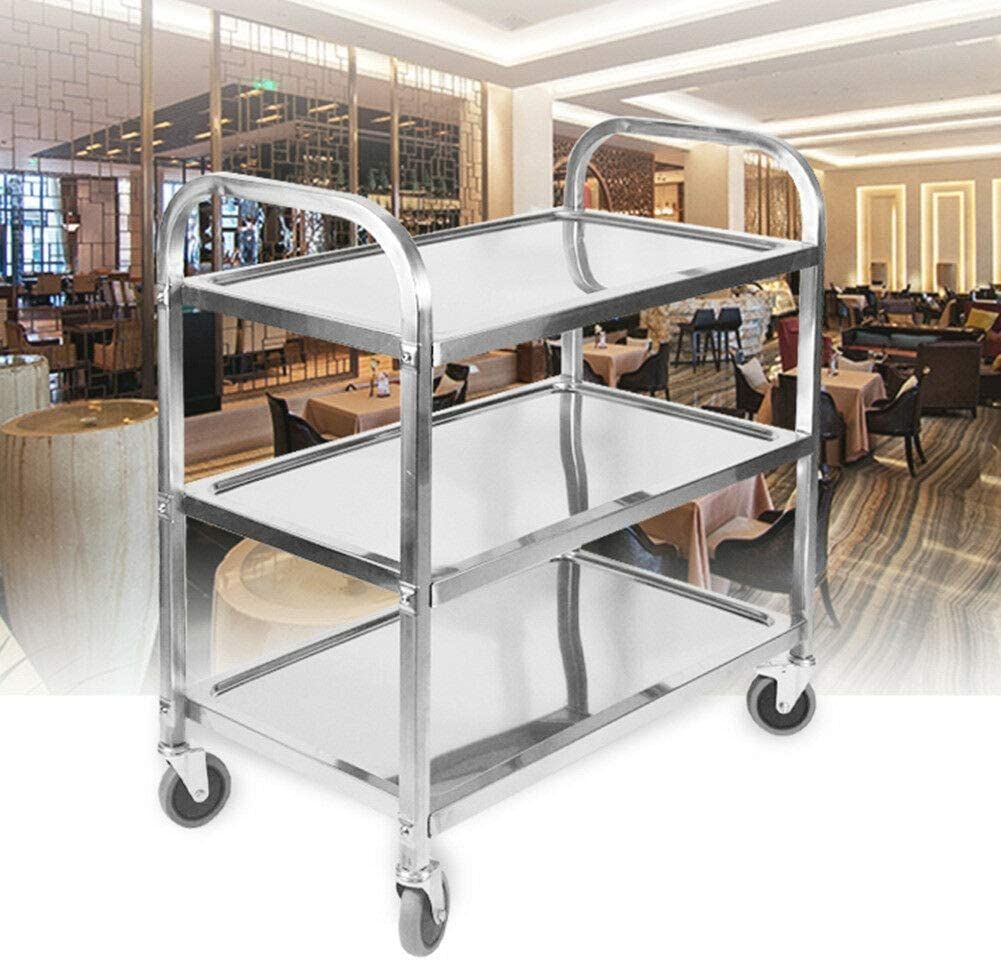 hotel ruote con freno cantine ristorante in acciaio inox Carrello per catering treno per bagno carrello di servizio cucina