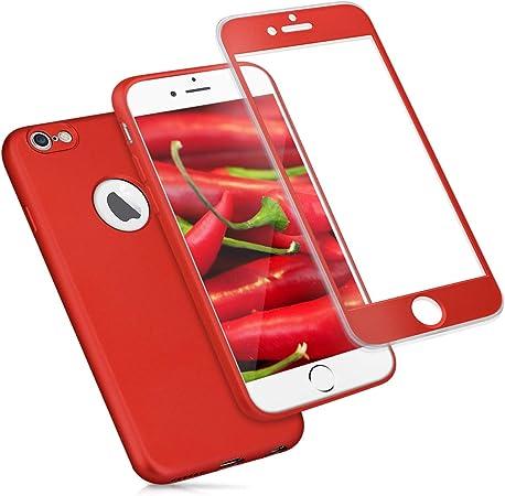 kwmobile Custodia compatibile con Apple iPhone 6 / 6S - Cover protettiva fronte retro TPU silicone - Back Case protezione totale