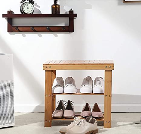 38 Hallway With Two Shoe Shelves and Matching 36 Coat Rack// Shelf Foyer Bench Mud Room