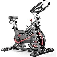 CANMALCHI hometrainer voor binnen, fiets voor spinning, voor thuis-/sportschoolgebruik, verstelbare sportfiets, LCD…