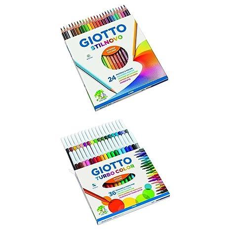 Giotto Stilnovo pastelli colorati   Giotto Turbo Color pennarelli ... 9dd787cad46