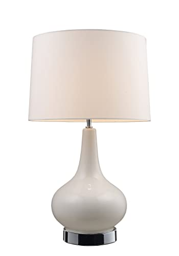 Dimond 3935 1 27-Inch Tall 1-Light Table Lamp, 10.0 x 16.0 x 27.0 , White and Chrome