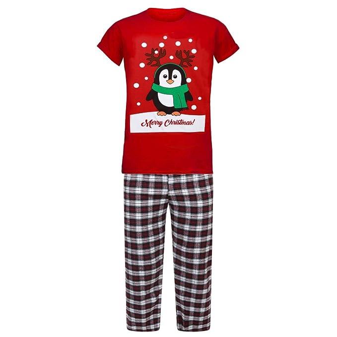 Conjunto de pijama para hombre, diseño de Navidad, para invierno, cá