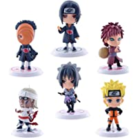 HASTHIP® PVC Anime Naruto Action Figures, 7cm (Multicolour) - Pack of 6