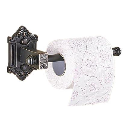 AUSWIND Vintage Carved Black Brass Toilet Paper Holder Hexagon Base Roll  Holder Bathroom Hardware Sets K15