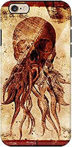 DailyObjects Octopus Skull Tough Case For Iphone 6 Brown