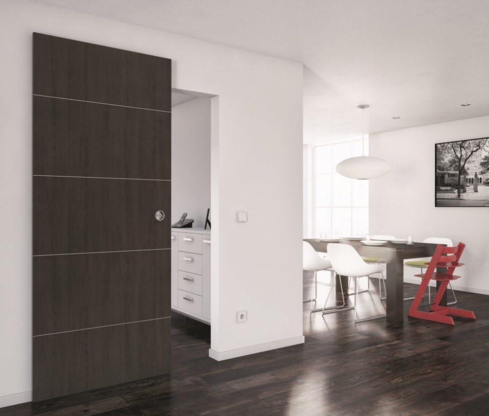 Picaporte corredera Slido Classic 80-M para puertas de madera con sistema de amortiguación de muescas y cierre suave, sistema de puerta corredera de hasta 80 kg,