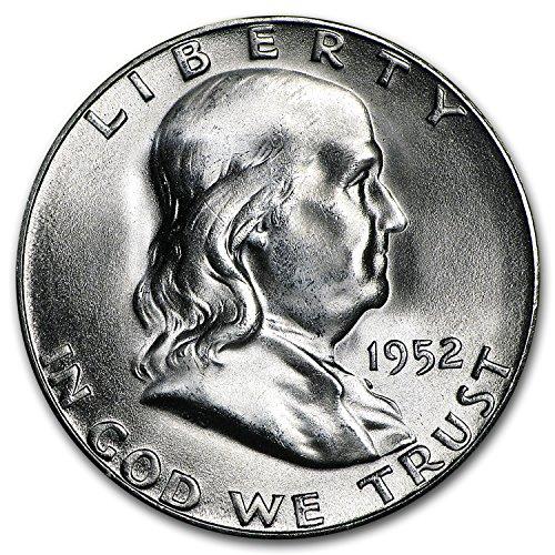 1952 S Franklin Half Dollar BU Half Dollar Brilliant Uncirculated