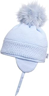 Satila of Sweden Baby Blue Daisy Faux Fur Pom-Pom Hat