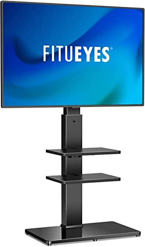 FITUEYES Universal Swivel Floor TV Stand
