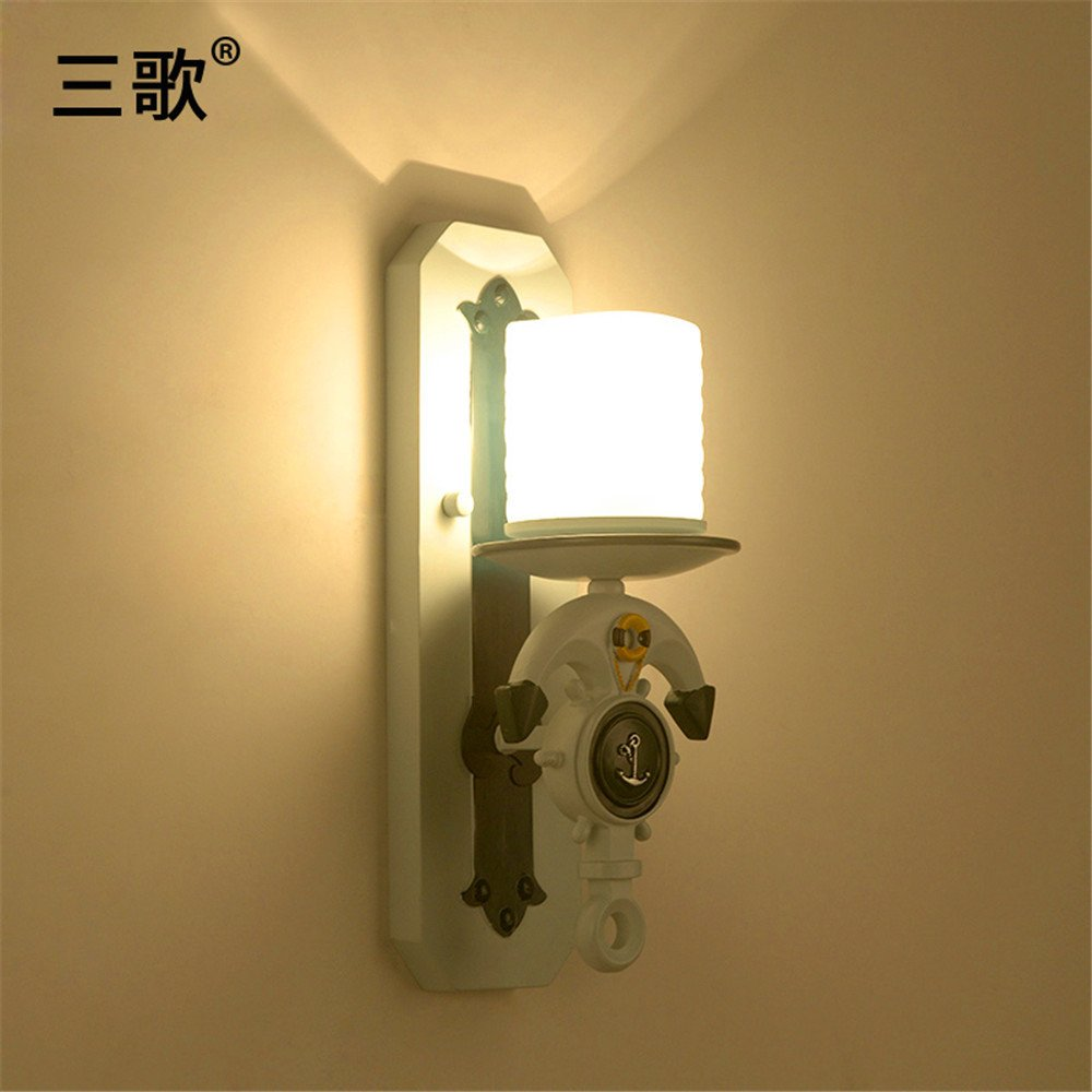 Anbiratlesn Modern E27 Vintage Rustikal Wandlampe für Schlafzimmer Wohnzimmer Korridor Badezimmer Küche weiße Lampe am Bett Balkon 400  150 mm