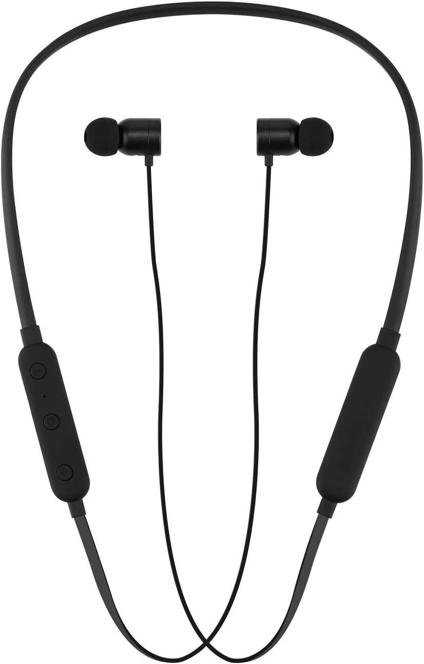 Wireless Headphones in-Ear Sweatproof Earphones, V4.1 Noise Cancelling Earbuds with Mic, Ipx5 Waterproof Sweatproof Bluetooth Headset for Mens Sports Headsets Gym Running Workout 8 Hour Battery