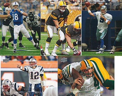- 2008 Upper Deck NFL Football Complete Mint 200 Card Basic Set with Brett Favre Peyton Manning Tom Brady Plus